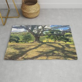 Tire Swing in a Tropical Place Rug