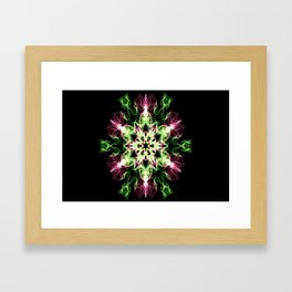Watermelon Snowflake Framed Art Print