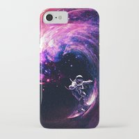 surfing iPhone & iPod Cases featuring Space Surfing by nicebleed