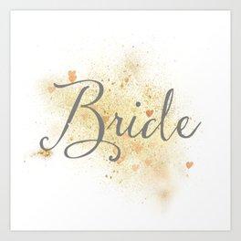 Shining Bride Art Print