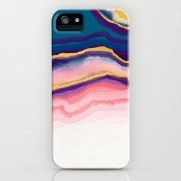 Coral Blue agate iPhone Case