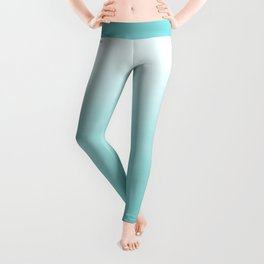 Modern teal watercolor gradient ombre brushstrokes pattern Leggings