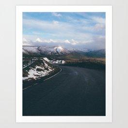 road to snow Art Print