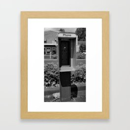 Where have all the pay phones gone? #4 Framed Art Print