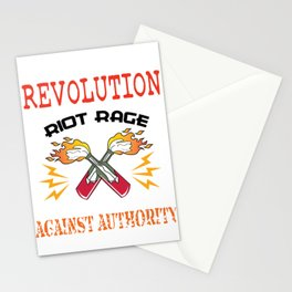 This is the awesome revolutionary Tshirt Those who make peaceful revolution START THE REVOLUTION Tee Stationery Cards