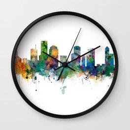Houston Skyline Wall Clock
