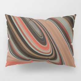 VOLCANO deep earth tones trace journey to centre of globe Pillow Sham