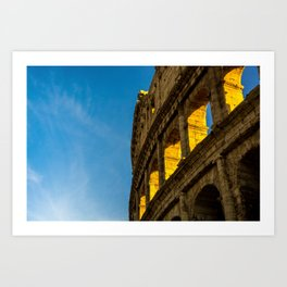 Sunset Over The Roman Colosseum. Art Print