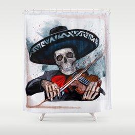 El Mariachi - Dia De Los Muertos Shower Curtain