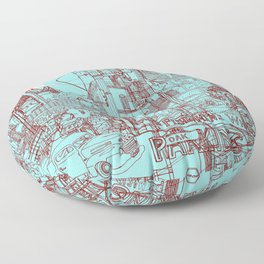 San Francisco! (Turquoise) Floor Pillow