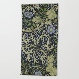 William Morris Seaweed Pattern Beach Towel
