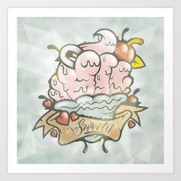 Prince Albert Cupcake Art Print