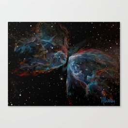 Butterfly Nebula Painting Canvas Print