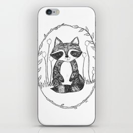 Portrait of a Raccoon iPhone Skin
