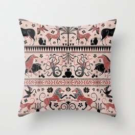 Greek Mythical Beasts Throw Pillow