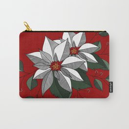 Holiday Flowers Carry-All Pouch