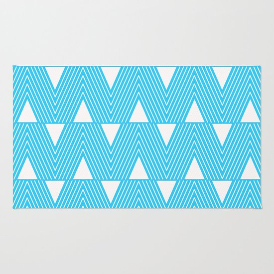 Triangles- Teal Triangle Pattern For Hot Summer Days-Mix