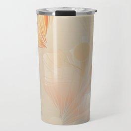 Ginkgo Biloba Botanical Abstract Graphic Art Rust Gradient Travel Mug
