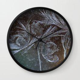 Jack Frost Window Etching  Wall Clock