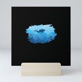 Scuba Diving I Scuba Diver Mini Art Print