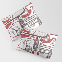 Abstract hand drawn idea design  Pillow Sham
