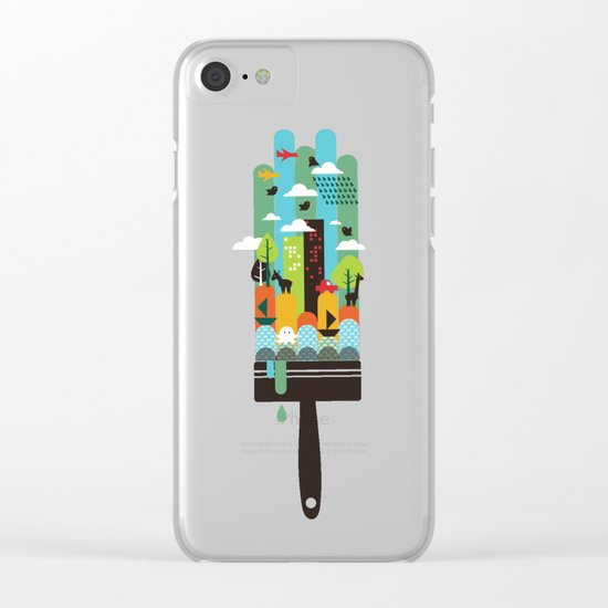 Paint your world Clear iPhone Case