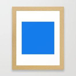 Solid Blue Dress Color Framed Art Print