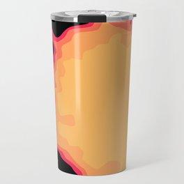 Splat on Black - by Friztin Travel Mug