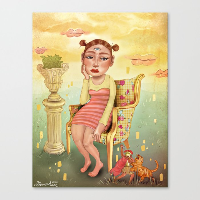 Fight for my entertainment - Painted Version Canvas Print