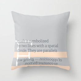 a letter to oneself : equals Throw Pillow