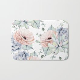 Pretty Succulents by Nature Magick Bath Mat
