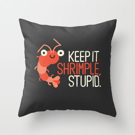 The Prawn Principle Throw Pillow