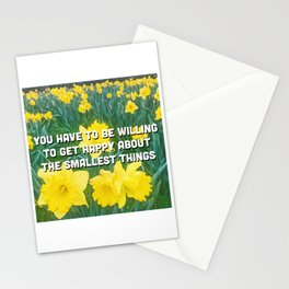 Be happy in a sea of yellow flowers Stationery Cards