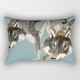 Totem Dark European Wolf Rectangular Pillow