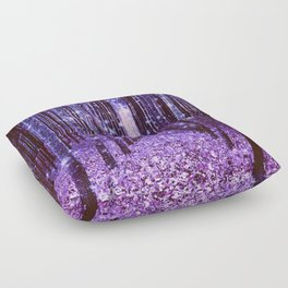Magical Forest Purple Floor Pillow