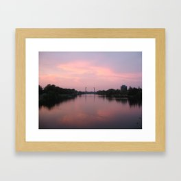 Welland at Sunset Framed Art Print