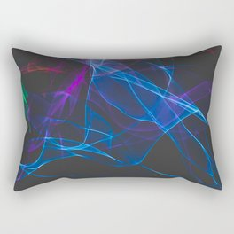 Smoke clouds of colors. Rectangular Pillow