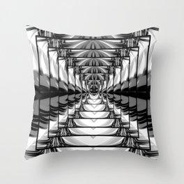 Abstract.Black+White. Throw Pillow