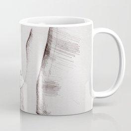 Naked Woman Pencil Drawing Coffee Mug