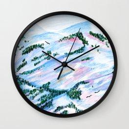 Mountain Scene I Wall Clock