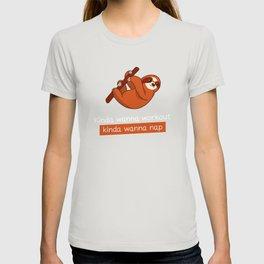Sloth Wanna Nap Workout Sloth Lover Funny Gift T-shirt