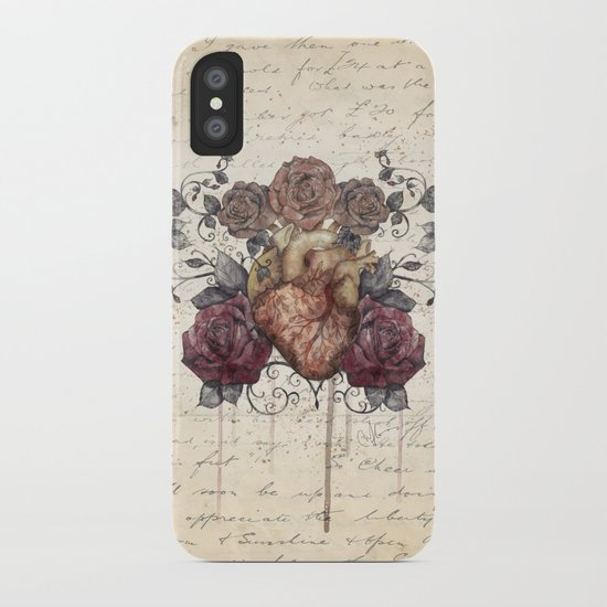Flowers from my heart iPhone Case