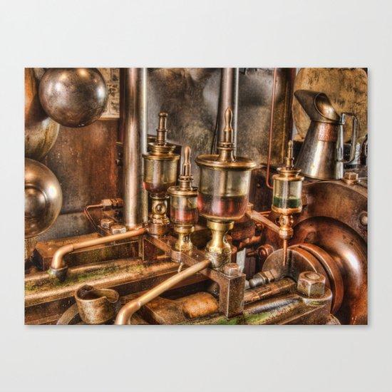 Steam engine oilers Canvas Print