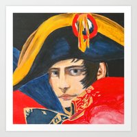 napoleon Art Prints featuring NAPOLEON by BonOrand