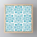 Watercolor Moroccan Tiles - Turquoise Blue by annelouw