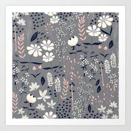 Flower garden 003 Art Print