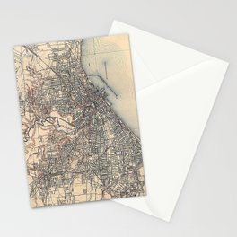 Vintage Map of Cleveland (1904)  Stationery Cards