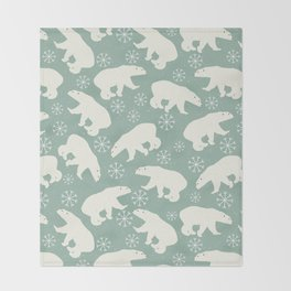 Merry Christmas - Polar bear - Animal pattern Throw Blanket
