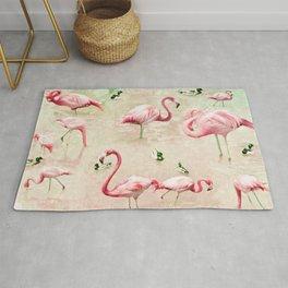 Flamingos Vintage Pink  Rug