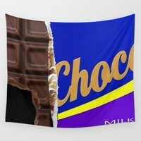chocolate Wall Tapestries featuring Chocolate by Nicklas Gustafsson